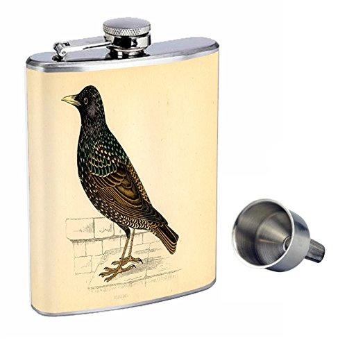 ビンテージ鳥Perfection d-011 inスタイル8オンスステンレススチールWhiskey Flask with Free B016XLH7KA Funnel d-011 Funnel B016XLH7KA, Detailsbymonosapiens:174cb2bf --- ijpba.info