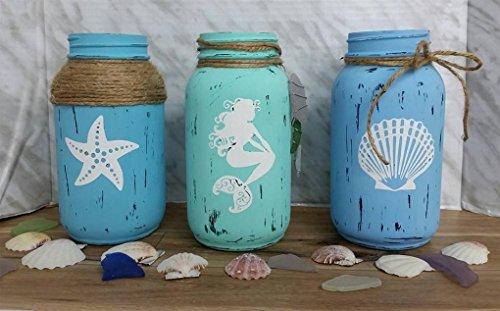 Nautical Mermaid Vases with Shell and (Nautilus Shell Vase)