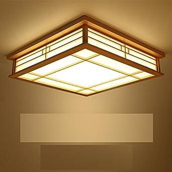 BRIGHTLLT Koreanisch Master Schlafzimmer Licht Romantische Wärme Quadrat  Deckenleuchten Wohnzimmer Lampen Restaurant Lampen Arcade Holz