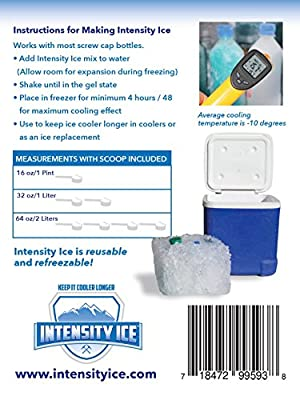 New! Best Ice Packs for Coolers -Long Lasting Gel Freezes Colder Than Ice. Keep Beer and Soda Fresh and Cold in Lunch Boxes, Ice Chests, etc...