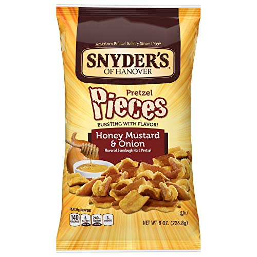Sourdough Snyders Pretzels (Snyder's of Hanover Pretzel Pieces, Honey Mustard and Onion, 8 Ounce (Pack of 6))