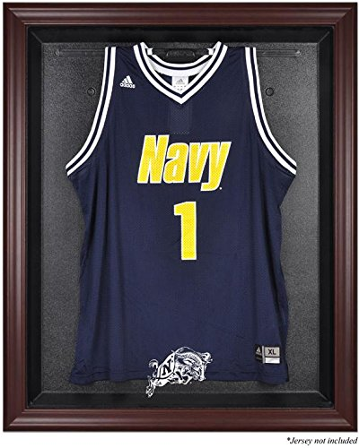 Navy Midshipmen Mahogany Framed Logo Jersey Display Case by Sports Memorabilia