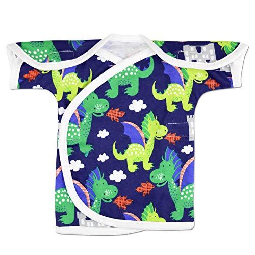 (Perfectly Preemie Short Sleeve NIC-IV Shirt - NICU Friendly (Dragon with White, Micro))