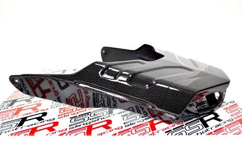 (Ducati 749 749S 999 999S Carbon Fiber Fibre Rear Exhaust Shield Guard Box)