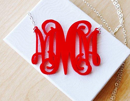 Monogram Necklace Personalized Acrylic Choices product image
