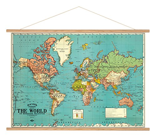 Cavallini Papers & Co. Cavallini Vintage World Map 4 Hanging Poster