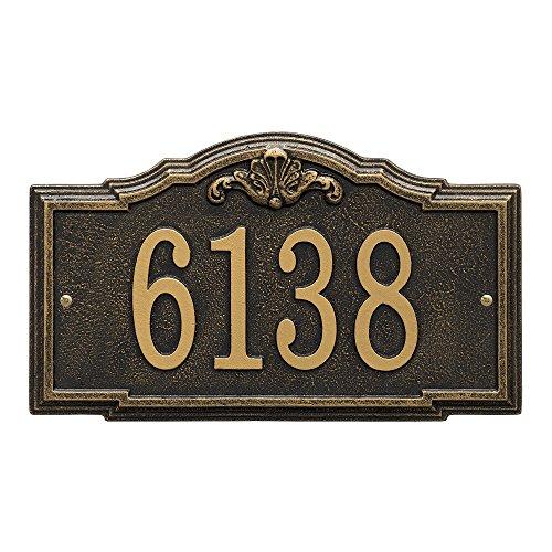 - Whitehall Custom Gatewood Standard Wall Aluminum Address Plaque 14.25