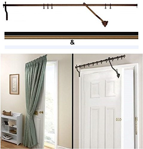 Beau Amazon.com: Door Curtain Pole   Bronze Rising Portiere Rod 42 (106cm) Long  By Charles Rowley: Home U0026 Kitchen