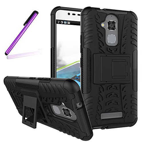 Shockproof Armor TPU/PC Case for Asus Zenfone Max (Black) - 1