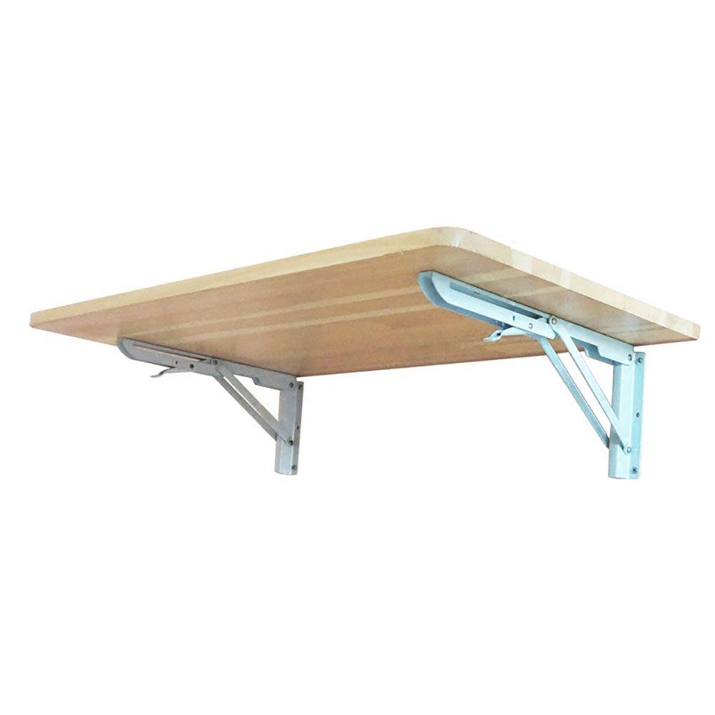 JU FU Piccolo Tavolo da Pranzo Pieghevole da Tavolo in Legno Resistente da Parete in Legno con mensola da Tavolo con mensole in Alluminio   (Dimensioni   60  20cm)