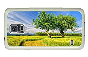 Hipster Samsung Galaxy S5 Case case mate poppies cornfied landscape PC White for Samsung S5