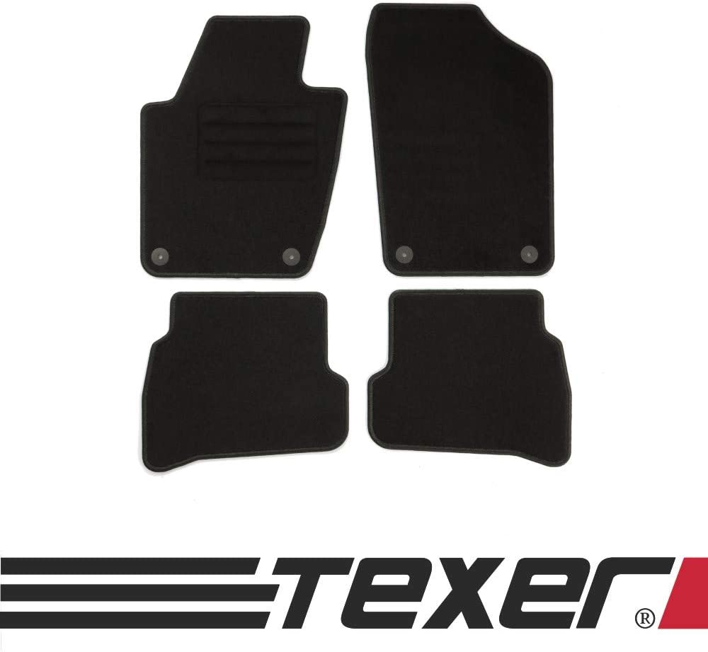 2014 Basic CARMAT TEXER Textil Fu/ßmatten Passend f/ür Skoda Fabia III Bj