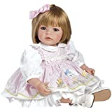 """Adora Toddler Cuddly & Weighted 20""""Play Doll- Pin-a-four Seasons  Sandy Blonde Hair/Blue Eyes- Ages 6+"""