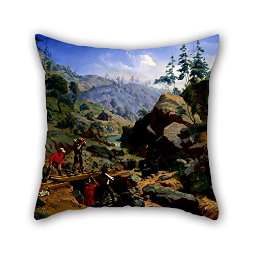 [Artistdecor Oil Painting Charles Christian Nahl - Miners In The Sierras Pillowcase 16 X 16 Inches / 40 By 40 Cm Gift Or Decor For Teens,valentine,dance Room,wedding,drawing Room - Twice] (Gold Miner Costume Accessories)