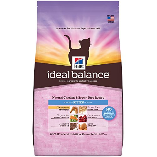 Hill's Ideal Balance Kitten Natural Cat Food, Chicken & Brown Rice Recipe Dry Cat Food, 6 lb Bag