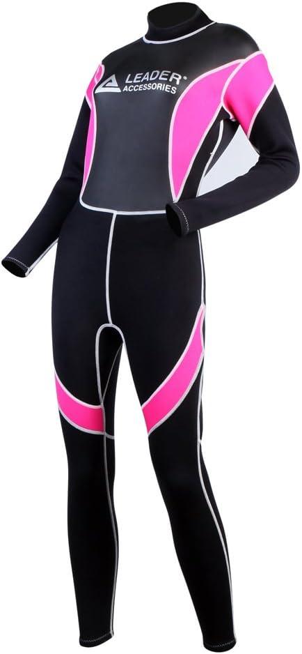 Leader Accessories Women s Wetsuit 2.5mm Black Pink Fullsuit Jumpsuit Wetsuit