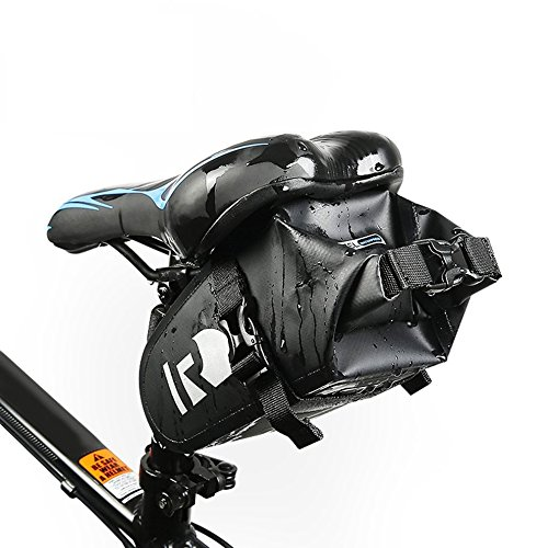 ROSWHEEL DRY Series Bicycle Cycling Bag Full Waterproof PVC Rear Tail Saddle Bag by CLKJYF