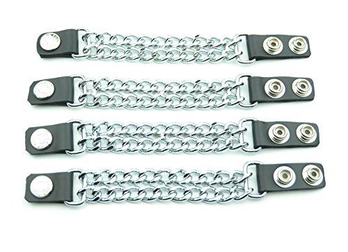 Vest Extenders Leather & Double Chrome Chain 4 (Double Chain Vest Extender)