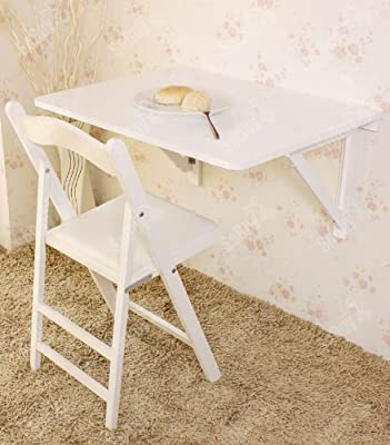 Haotian Wall-mounted drop-leaf solid wood table,