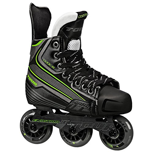 Tour Hockey Code 9 Jr Inline Hockey Skate, Black/White/Red, 04