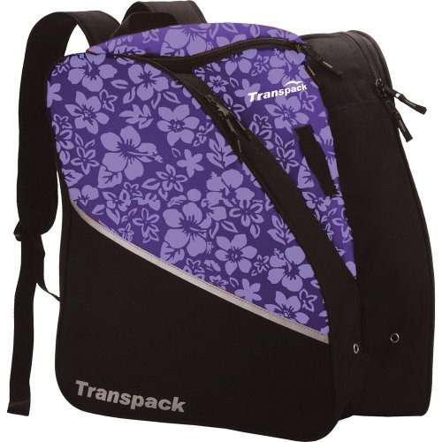 Transpack Edge Junior Ski Boot Bag - Purple Floral - Edge Ski Bag