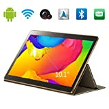10.1 Inch Android 4.4 Phablet Quad Core Tablet PC High Definition Screen 1280x800 Wifi + Bluetooth + 3G Unlocked Smartphone Cell Phone/Tablet 2GB 16GB Dual Camera and Dual SIM Cards Slots (Black)