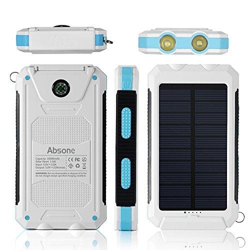Solar charger solar power bank 10000mah external backup - Exterior light with battery backup ...