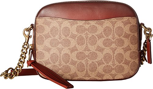 COACH Women's Camera Bag in Coated Canvas Signature B4/Rust One Size