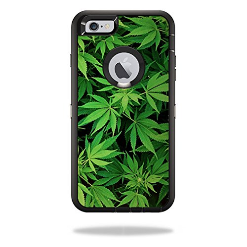 MightySkins Protective Vinyl Skin Decal Cover for OtterBox Defender iPhone 6/6S Plus Case Cover Sticker Skins Weed