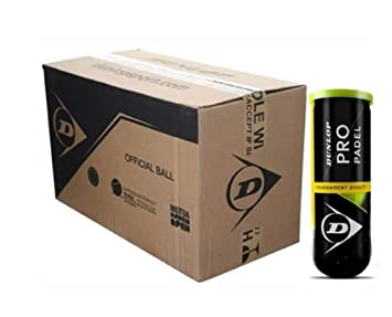 DUNLOP Pelotas Padel Team Padel Caja 24 Botes: Amazon.es ...