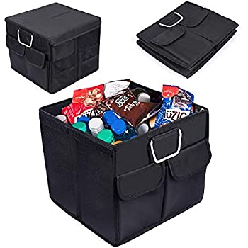 CleverMade 45L SnapBasket TrunkCaddy Collapsible Car Trunk Organizer /& Storage Tote with Handles Charcoal//Teal 2-Pack