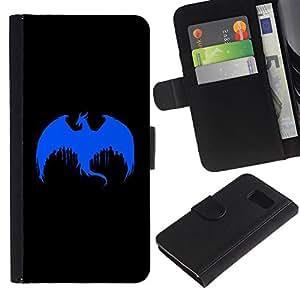 All Phone Most Case / Oferta Especial Cáscara Funda de cuero Monedero Cubierta de proteccion Caso / Wallet Case for Sony Xperia Z3 Compact // The Blue Dragon