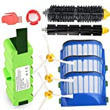 Replacement 5200mAh Lithium Battery + Accessory Part Kit for iRobot Roomba 500 520 531 532 540 550 552 560 570 595 600 620 630 650 655 660 700 770 780 790 800 870 880 900 960 980 Scooba 450