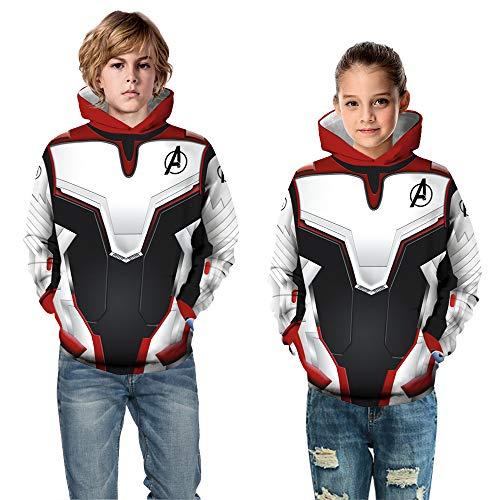 waterlan New Kids Avengers Infinity War Spiderman Hoodie Iron Spider-Man Coat Jacket (Large(12T-13T))