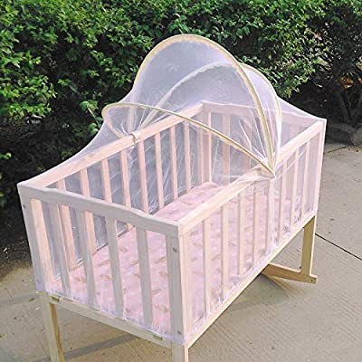 Arched Baby Mosquito Net for Crib and Stroller, White by ME SUPERB DEALS