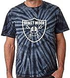 "The Silo TIE DIE BLACK Oakland Lynch ""Beast Mode"" T-Shirt"