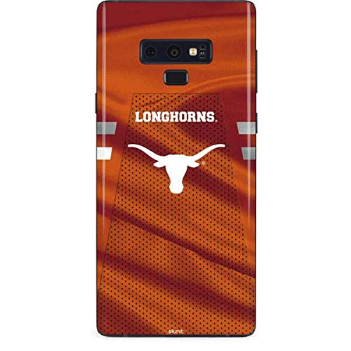 Skinit University of Texas at Austin Galaxy Note 9 Skin - Texas Longhorns Jersey Design - Ultra Thin, Lightweight Vinyl Decal Protection ()