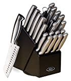 New Home Deal Stainless Steel Cutlery Set with Hardwood Storage Block (22-Piece)