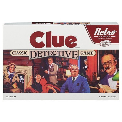 Hasbro Gaming Retro Clue Board Game