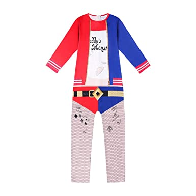 ALAMing Disfraz de Harley Quinn para niña Style01 3-4 Años: Amazon ...