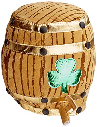 Plush Shamrock Beer Barrel Hat Party Accessory (1 count) (Beer Barrel Costume)