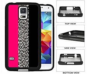 Leopard with Pink and Black Stripe Galaxy S5 Hard (PC) Back Case