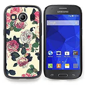 Stuss Case / Funda Carcasa protectora - Flores Wallpaper Rosa Verde Beige - Samsung Galaxy Ace Style LTE/ G357