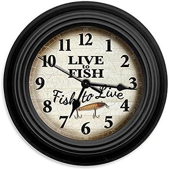 Reflective Art Live to Fish Wall Clock, 10