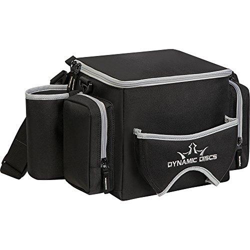 Dynamic Discs Soldier Disc Golf Bag - with Adjustable Shoulder Strap and Padding - Mesh Pocket - Internal U-Shaped Frame - 2 Dividers - Black/Grey