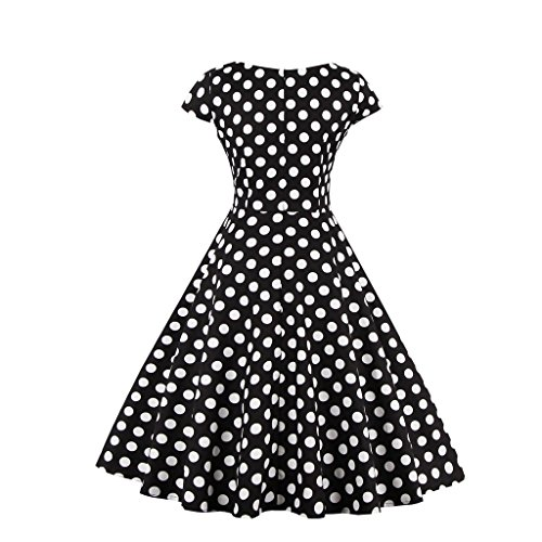 50er DISSA M1328 3XL 46 Retro Kleid Cocktail Damen EU Rockabilly Vintage Schwarz pf6fwAExq