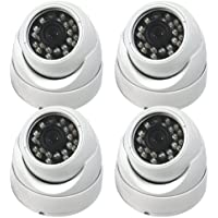Evertech CCTV Security Camera - Set of 4 Dome cameras - 700 TVL High Resolution Day/Night Vision- Indoor/outdoor 1/3 Sony CCD Wide View Angle, 90 Degree Wide View Angle Lens, 24 Infrared Leds [IR] Surveillance CameraAngle, 90 Degree Wide View Angle Lens, 24 Infrared Leds [IR] Surveillance Camera
