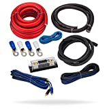 InstallGear 1/0 Gauge AWG Complete Amp Kit Ga Awg Amplifier Installation Wiring