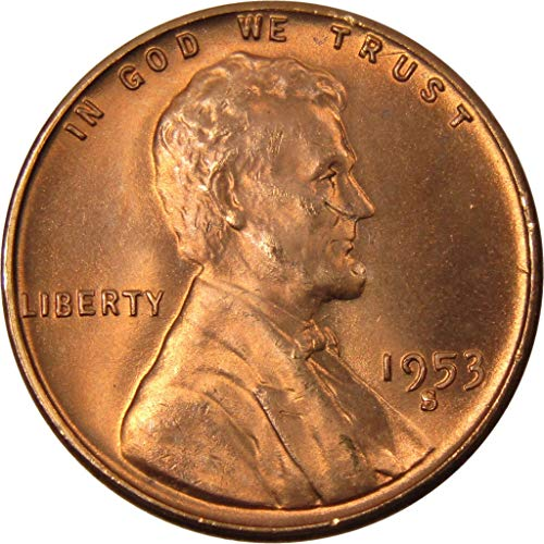 1953 S 1c Lincoln Wheat Cent Penny US Coin Uncirculated Mint - Mint 1953