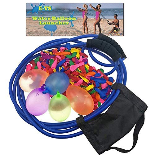 Rainrain27 Water Bomb Slingshot,Water Balloon Launcher Gun 400 Meters Long Range with 100 Balloons, 3 Man Slingshot Water Bomb Large Catapult Slingshot, Boys Girls Kids Water Cannons Toys Yard Games (Best Male Tennis Players Of All Time)